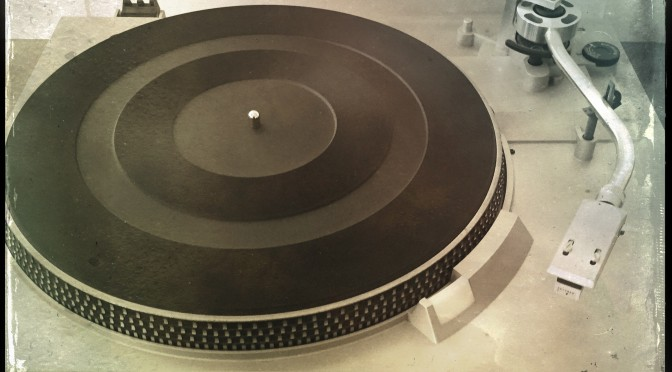 A Technics record play with no record on the turntable.